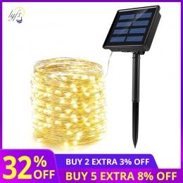 50/100/200 led solar LED światła wodoodporna drut miedziany led String dom na zewnątrz taśmy led boże narodzenie dekoracja na pr