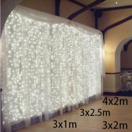 3x1/3x2/4x2 m sopel LED ciąg światła boże narodzenie Fairy Lights garland na zewnątrz domu na ślub/Party/kurtyny/dekoracje ogrod