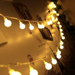 New 1.5 M 3 M 6 M wróżka wianek lampa LED Ball String światła wodoodporna na boże narodzenie drzewo ślub dekoracja wnętrza domu