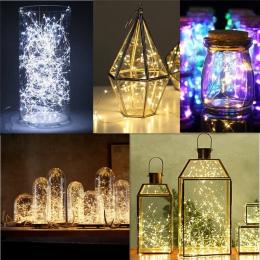 2 M 20 drut miedziany LED wróżka wianek lampa LED String Lights boże narodzenie ślub strona główna dekoracja zasilany przez CR20