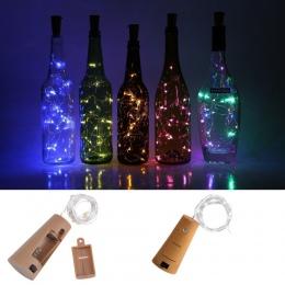 10 20 30 diody LED w kształcie korka LED String światła drut miedziany String wakacje bajkowe lampki na zwenątrz na boże narodze