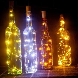 6.5ft 20 na wino LED lampki do butelek Cork zasilany z baterii Garland DIY boże narodzenie ciąg światła na imprezę Halloween wes