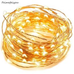 Feimefeiyou 50 100 LED Starry String String światła bajki mikro LED przezroczysty drut miedziany do Party boże narodzenie ślub 5