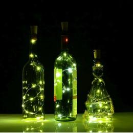 2 M 20 diod LED Mini LED String wakacje światła korek do butelek szkło Craft do wewnątrz na zewnątrz ślub bożenarodzeniowe lampk