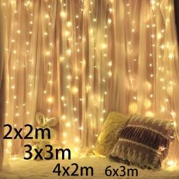 3x2/4x2/6x3 m 300 sopel led fairy String światła boże narodzenie led ślub girlandy świetlne na przyjęcia garland na zewnątrz kur