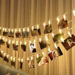 1.5 M 3 M 6 M podstawka na zdjęcie z klipsem LED String światła zasilane z baterii boże narodzenie nowy rok Party ślubne Ramadan