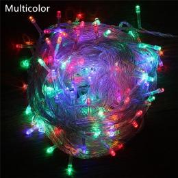 ECLH Outdoor String Lights 5 M 10 M 20 M 30 M 50 M 100 M Led Garland String Fairy światła 8 tryb boże narodzenie światła wakacje