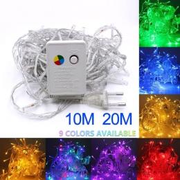 Najniższa cena 2/5/10 M 10-100 LED boże narodzenie wieniec drutu wąż ledowy bajki światła do użytku wewnątrz pomieszczeń nowy ro