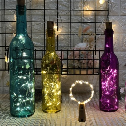 1 M 2 M srebrny drut wróżka wianek korek do butelki szkło Craft LED string lights ślub boże narodzenie nowy rok dekoracji wakacj
