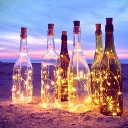2 M LED Garland drut miedziany Corker String Fairy światła do szklanej butelki nowy rok/boże narodzenie/walentynki dekoracje ślu