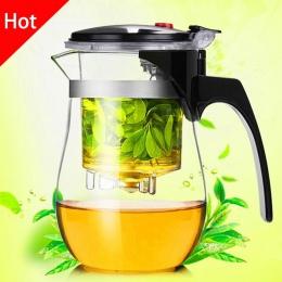 Wysokiej jakości odporne na ciepło szklany imbryk chiński kung fu, zestaw do parzenia herbaty, czajnik szklanka do kawy ekspres