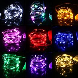 2 M 20 diod LED baterii drut miedziany wróżka wianek LED String światła wakacje oświetlenie na boże narodzenie dekoracji choinki
