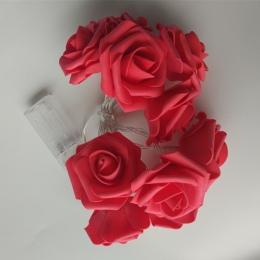 YIYANG 2019 walentynki nowe style 1.5 M LED Rose ciąg światła strony wakacyjny ślubna lampa dekoracyjna 10 róże dla domu KTV