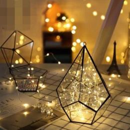 5 M 50 LED na baterie lampki LED na drucie miedzianym na boże narodzenie Garland dekoracja na przyjęcie ślubne boże narodzenie F