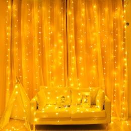 2/3/6 M kurtyny LED String Light Fairy sople LED boże narodzenie Garland ślub Party Patio okno na zewnątrz ciąg dekoracja świetl
