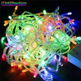LED String światła 5 M 10 M 20 M 30 M 50 M 100 M ue wtyczka AC220V Xmas wakacje światła wodoodporne lampki świąteczne 9 kolory d