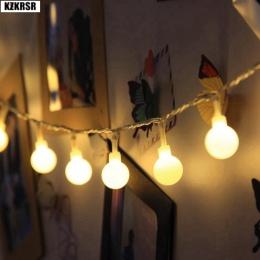Garland 3 M 5 M 10 M bateria AA LED Ball String Lights boże narodzenie światła kryty Garland na baterie ślubne dekoracje świątec