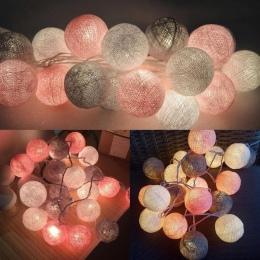 QYJSD 3 M LED bawełniane światełka kule String wakacje ślub boże narodzenie Party sypialnia bajki światła na zewnątrz światła gi