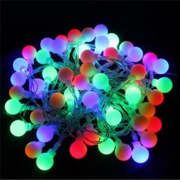 ECLH 5 M 40 LED RGB garland String Fairy ball światła na ślub dekoracja świąteczna lampa festiwal oświetlenie zewnętrzne 220 V