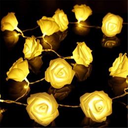 1 M/2 M/3 M/4 M/5 M/10 M Rose Flower LED ciąg światła na baterie boże narodzenie świąteczna światełka na walentynki dekoracje śl