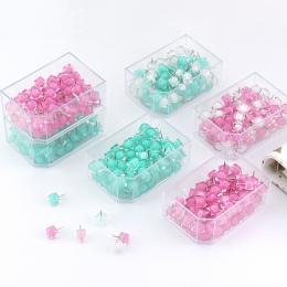 TUTU 80 sztuk/pudło piłka szpilka galaretki pinezki kciuka Marcaron kolor Szpilki szpilka szpilki dla tablica korkowa dekoracyjn