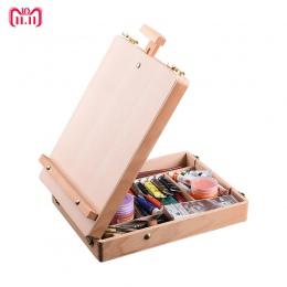 Drewniane sztalugi do malowania szkic sztalugi stół kreślarski pudełko farby olejne akcesoria do laptopa akcesoria do malowania