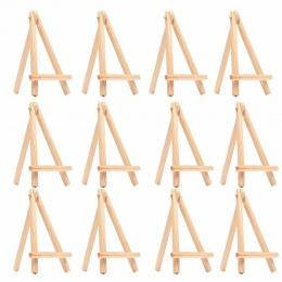 12 sztuk dla dzieci Mini drewniane sztalugi Art Painting nazwa karty stojak uchwyt wyświetlacz rysunek dla ucznia dostaw artysty