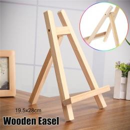 19.5x28 cm stół górnej półki wyświetlacza z drewna bukowego artysta sztuki sztalugi Craft drewniany regulowany weselne karty sto