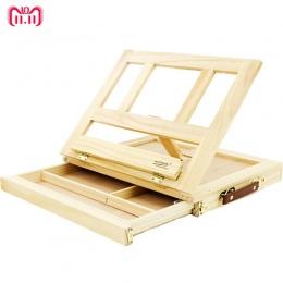 Drewniany stół sztalugi do malarstwo artysty dla dzieci wkład do szuflady przenośny pulpit akcesoria do laptopa walizka farby sp