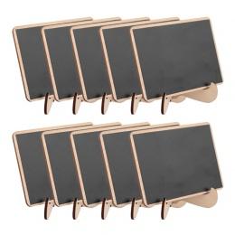 5 sztuk/partia prostokąt drewniane mini tablica do dekoracje weselne tablice forum