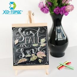 XINDI 20*36 cm MDF pulpit biuletyn tablica nowy z drewna sosnowego sztalugi tablica kredowa dla dzieci drewniane wiadomość tabli