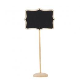 10 sztuk drewna kwiatowy granicy Mini tablica stojak ślub Lolly Party drewniane Tag czarna płyta tablica na Party biuro szkolne