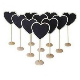 5 sztuk nowy kształt serca drewniana tablica Mini tablica