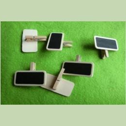 10 sztuk Mini klip na tablicy słowa wiadomość tablica Decor drewniana tablica kredowa w kształcie klip na wesele rozmiar: 4 cm *