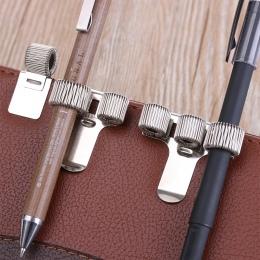 Nowe pojedyncze/podwójne/potrójne otwór metalowy uchwyt na długopisy z kieszenią na klipsy lekarze strój pielęgniarki długopisy