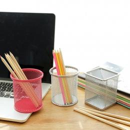 Metal Hollow Pen pojemnik na ołówki wazon doniczka schludny magazyn materiałów piśmienniczych pojemnik na biurko