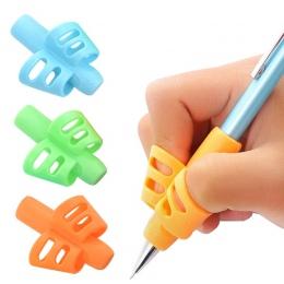 3 sztuk dzieci pisanie ołówek Pan uchwyt dla dzieci nauka praktyka długopis silikonowy pomoc Grip postawy urządzenie do korekty