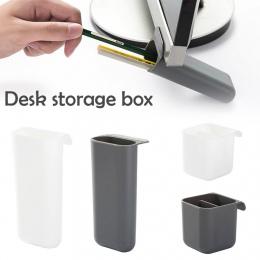Piśmiennicze pióro uchwyt organizer na kosmetyki trzymać na pulpit z tworzywa sztucznego biuro ołówek pudełko organizer na biurk