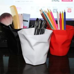 1 sztuk długopis pojemnik na ołówki pojemnik biurko wielofunkcyjny Mini pulpit kosz na śmieci wazon doniczka pędzel do makijażu