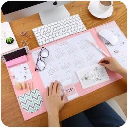 4 cukierkowe kolory Kawaii wielofunkcyjne długopisy pisanie klocki 2019 2020 kalendarz Mat nauka Pad mata na biurko akcesoria