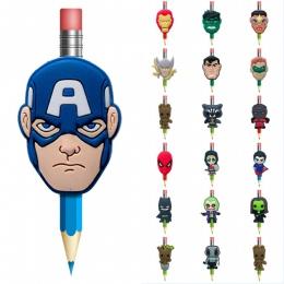 1 sztuk kawaii Avengers Batman Super człowiek Groot długopisy Topper stacjonarne materiały biurowe uchwyt do trzymania ołówka dł