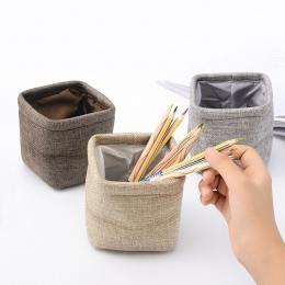 Kreatywny proste Mini tkaniny pióra uchwyt na pióro stacjonarne ołówek organizator na biurko akcesoria biurowe materiały biurowe