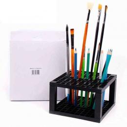 96/49 otwory z tworzywa sztucznego ołówek i pędzel uchwyt na stojak na biurko organizer na długopisy, pędzle do malowania, kredk