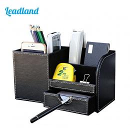 Wielofunkcyjny pojemnik z przegródkami na biurko długopis długopisy stojak ołówek organizator na biurko akcesoria biurowe materi