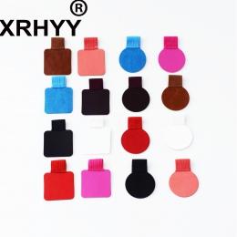 XRHYY 6 paczka długopis uchwyt na pętlę uchwyt na samoprzylepny skórzany uchwyt na długopis z elastyczne pasma pętli do notebook