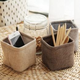 PHANTACI Mini mały uchwyt na pióro pulpit pudełka tkaniny pędzelek artystyczny garnek zdjęcie rekwizyty proste piękne pudełko ma