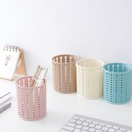 Z tworzywa sztucznego kompaktowy kosz do kuchni łazienka biurowe organizer na biurko uchwyt na długopis ołówek przypadku dla pra