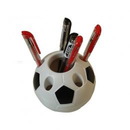 1 sztuk popularne biznes ozdoby biurowe kreatywny wielofunkcyjny piłka nożna kształt uchwyt na długopis moda biuro narzędzie do
