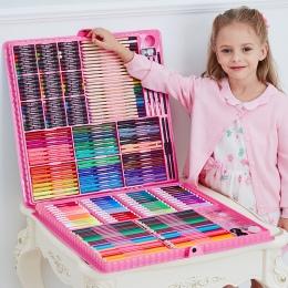 168/288 sztuk zestaw sztuki malarstwo akwarela narzędzia do rysowania marker do malowania pędzelek do zdobień dostaw dla dzieci