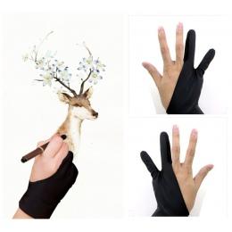 1 para 2 sztuk artysty rękawica 2-palce rysunek rękawice zanieczyszczenia dla tablet graficzny rozmazywanie kikut trzymać długop